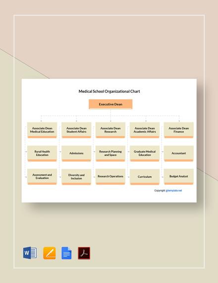 Free Medical School Organizational Chart Template
