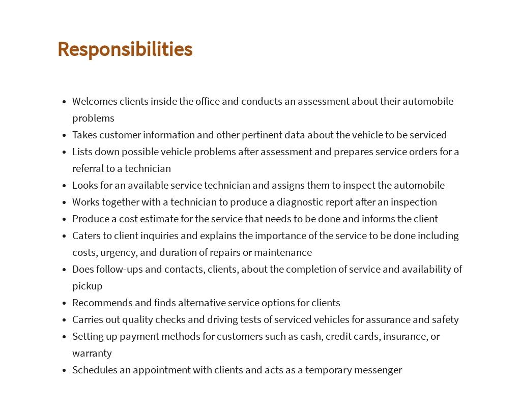 Free Automotive Service Consultant Job Ad/Description Template 3.jpe