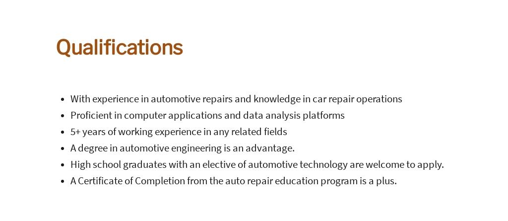 Free Automotive Service Consultant Job Ad/Description Template 5.jpe