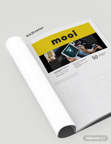 Digital School Magazine Template