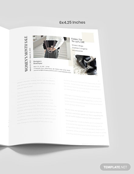 DIY fashion magazine ad Format