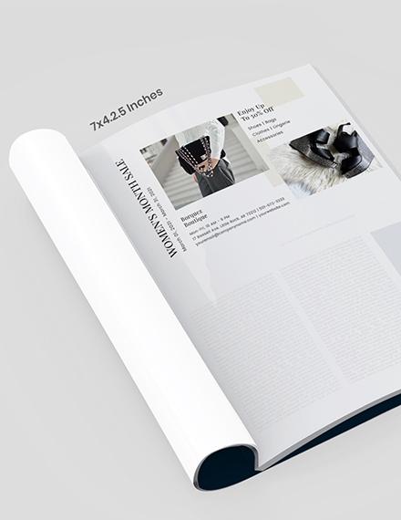 DIY fashion magazine ad Template