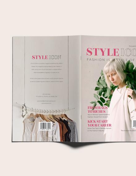 Sample Fashion College Magazine