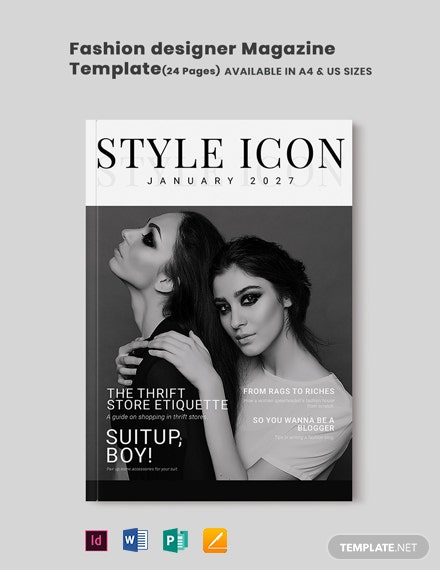 Fashion Designer Magazine Template