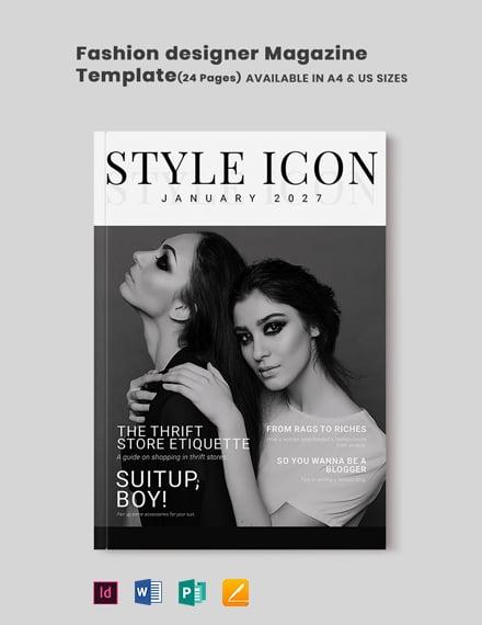 Fashion Designer Magazine Template