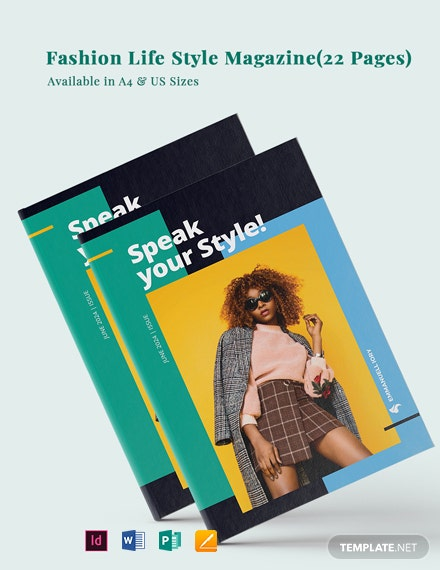 Fashion Life Style Magazine Template