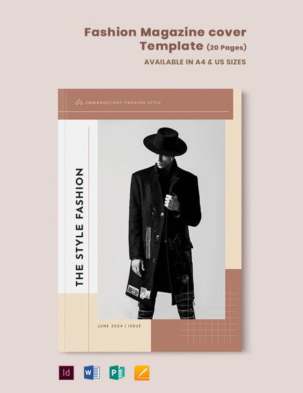 Fashion Magazine Cover Template
