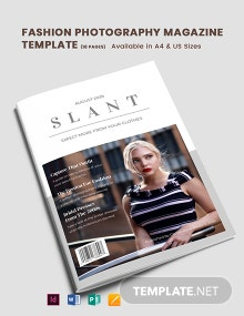 Fashion Photography Magazine Template
