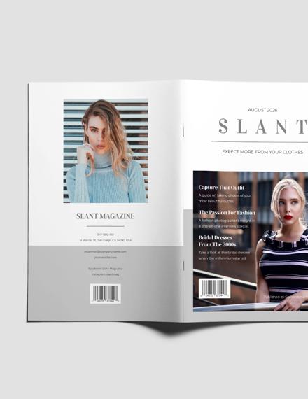 Sample Fashion Photography Magazine