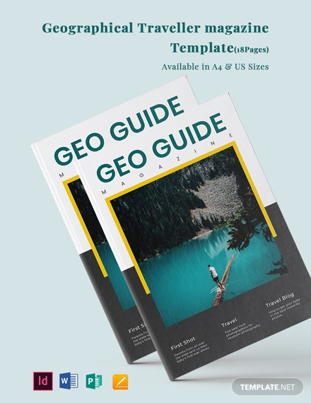 Geographical Traveler magazine Template