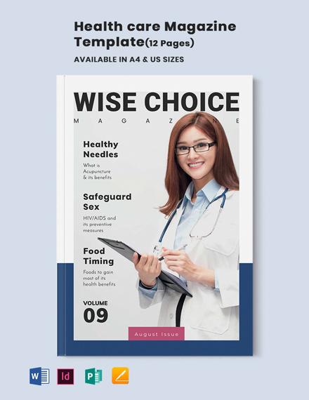 Health Care Magazine Template
