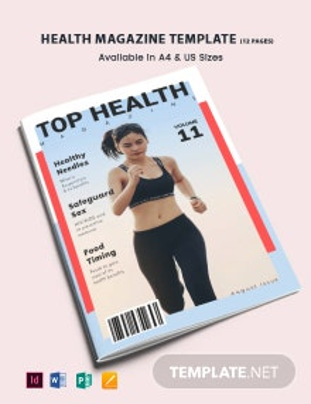 Simple Health Magazine Template