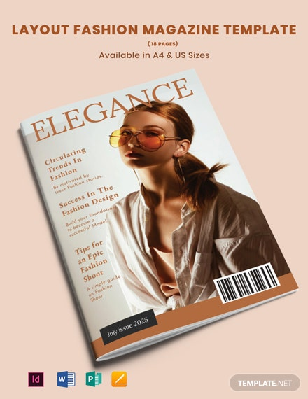 Layout Fashion Magazine Template