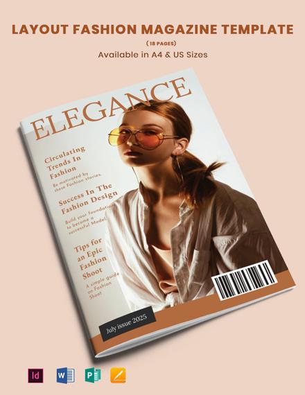 Layout Fashion Magazine