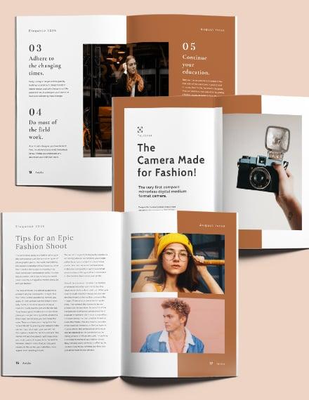 Layout Fashion Magazine Download