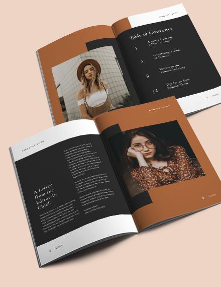 Layout Fashion Magazine Template