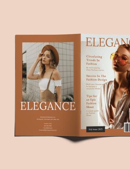 Sample Layout Fashion Magazine
