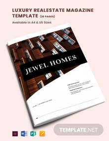 Luxury Real Estate Magazine Template