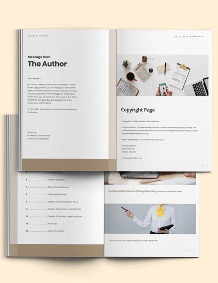 Business Workbook Template