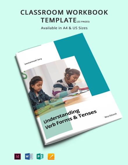 Classroom Workbook Template