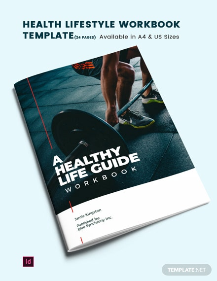 Health Lifestyle Workbook Template