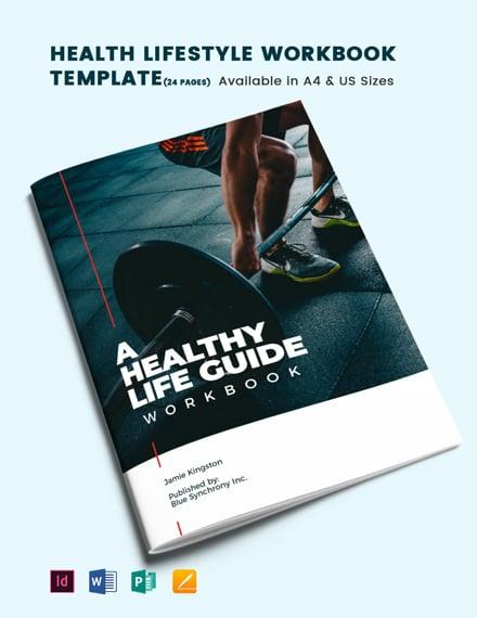 Health Lifestyle Workbook Template