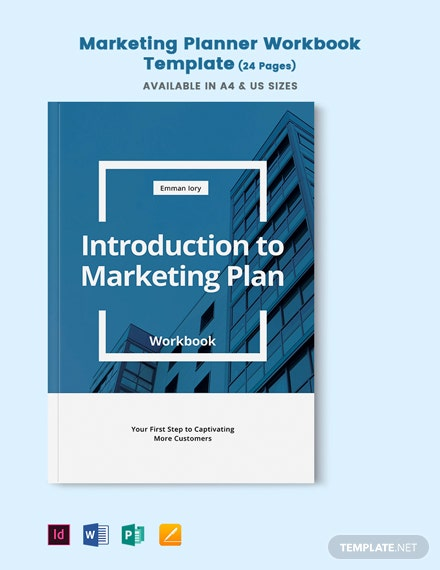 Marketing Planner Workbook Template