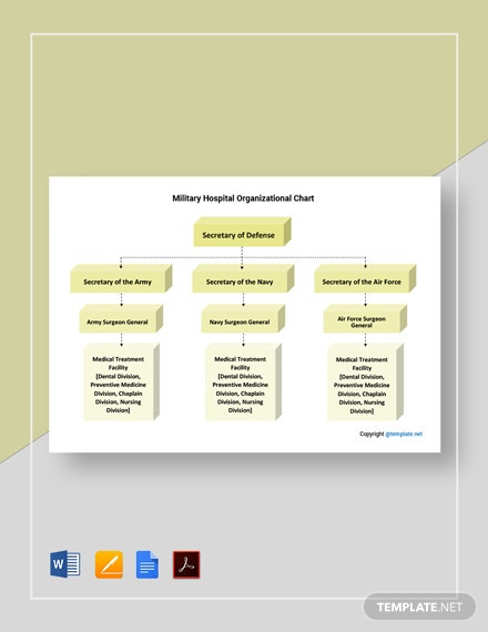 Free Military Hospital Organizational Chart Template