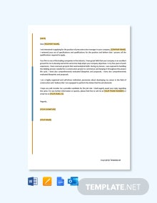 Free Pre Construction Manager Cover Letter Template