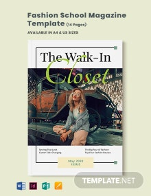 Fashion School Magazine Template