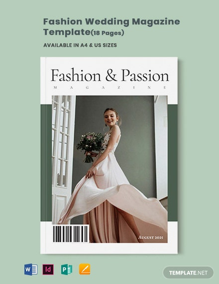Fashion Wedding Magazine Template