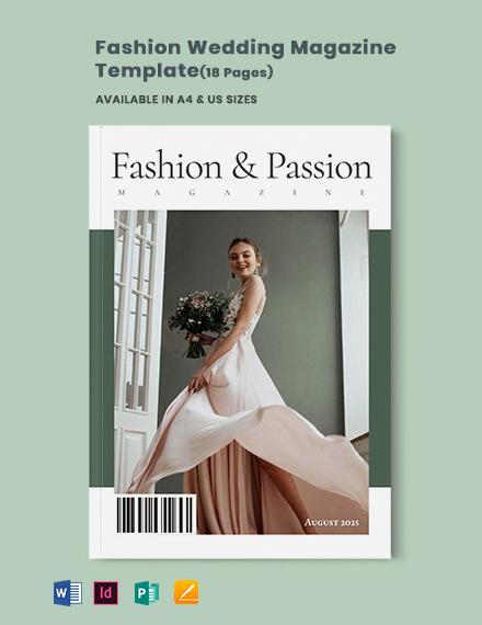 Fashion Wedding Magazine Template