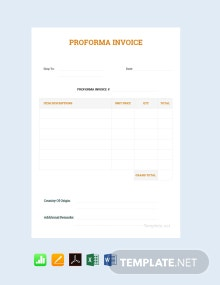 Free Simple Proforma Invoice Template