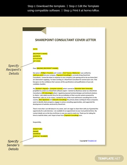 Sharepoint Consultant Instruction Template