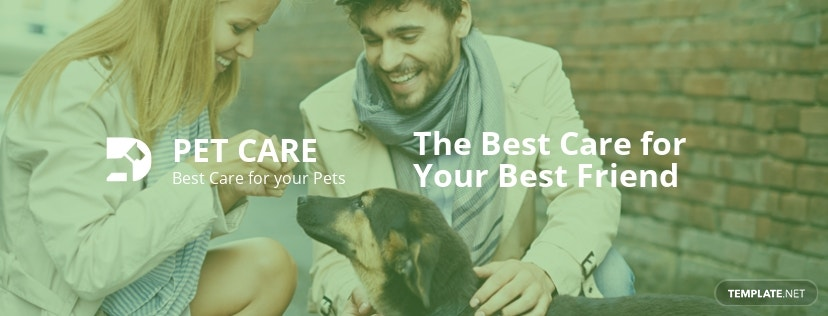 Pet Care Facebook Cover Page Template