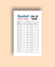 free baseball card template