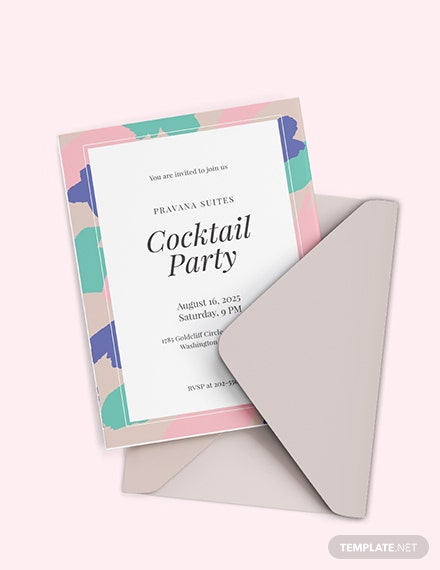 Free Printable Cocktail Party Invitation Template