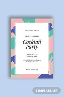 Printable Cocktail Party Invitation Template