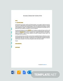 Free RN Legal Consultant Cover Letter Template