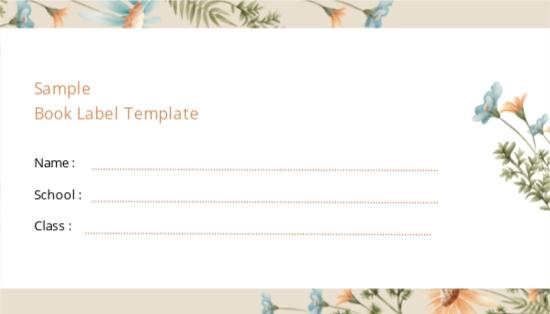 Sample Book Label Template.jpe
