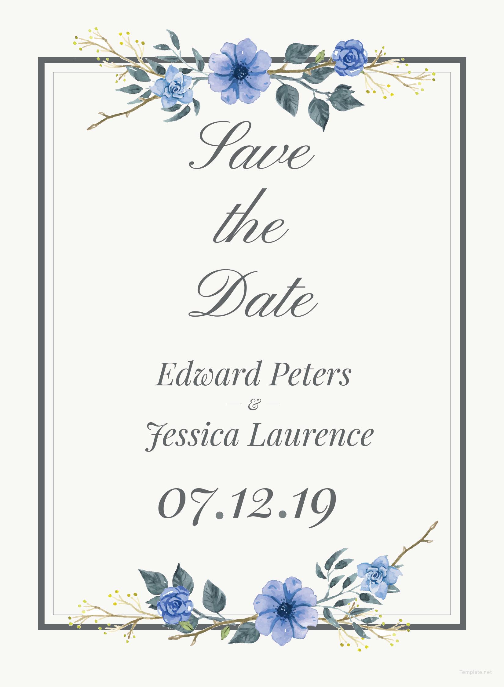 Wedding Invitation Card Template in Adobe Photoshop, Illustrator ...