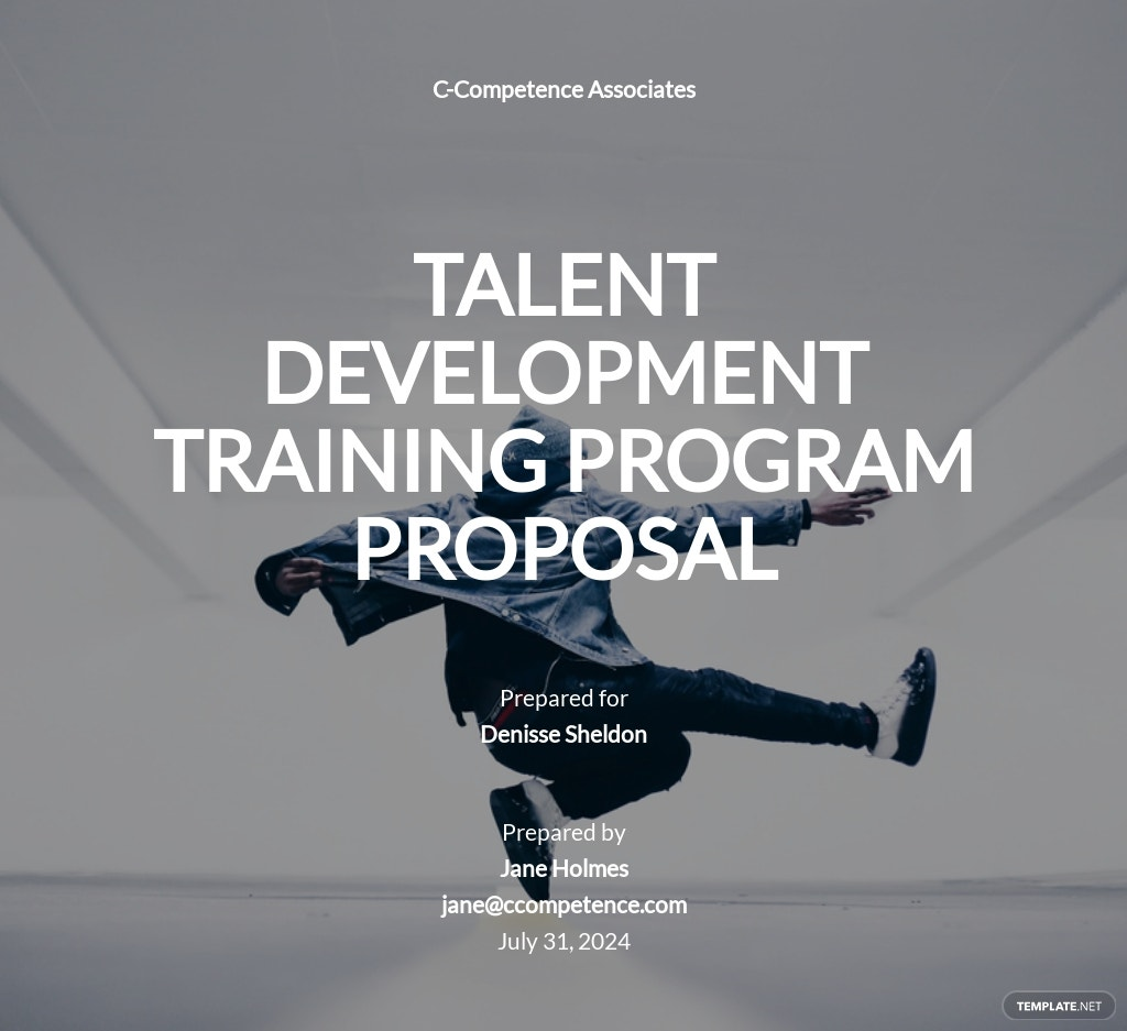 Training Program Proposal Template