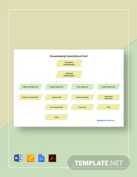 Free Housekeeping Organizational Chart Template