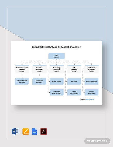 Small Business Company Organizational Chart