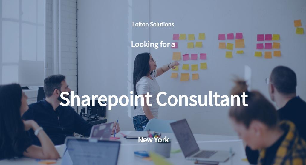 Sharepoint Consultant Job Description Template