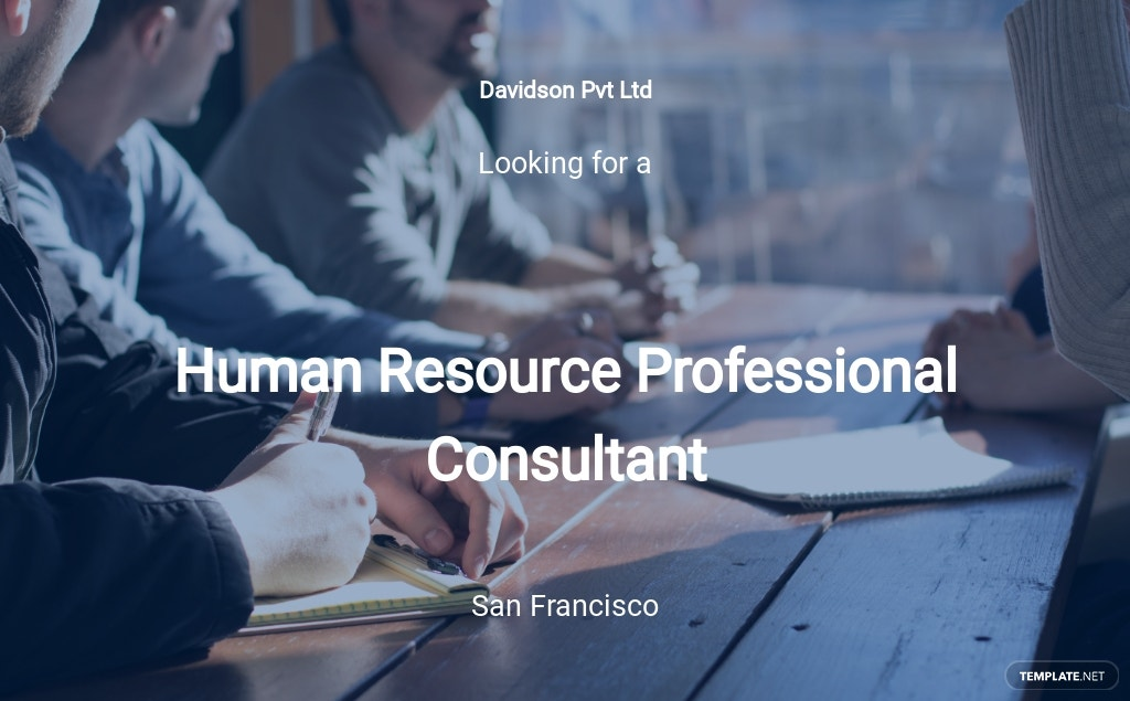 HR Professional Consultant Job Description Template