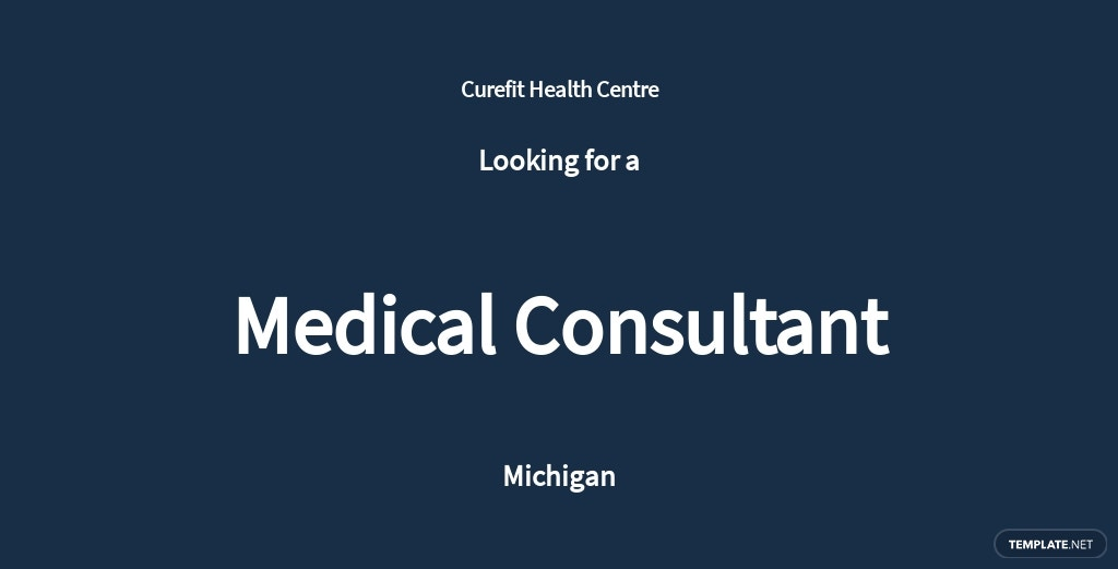 Medical Consultant Job Description Template