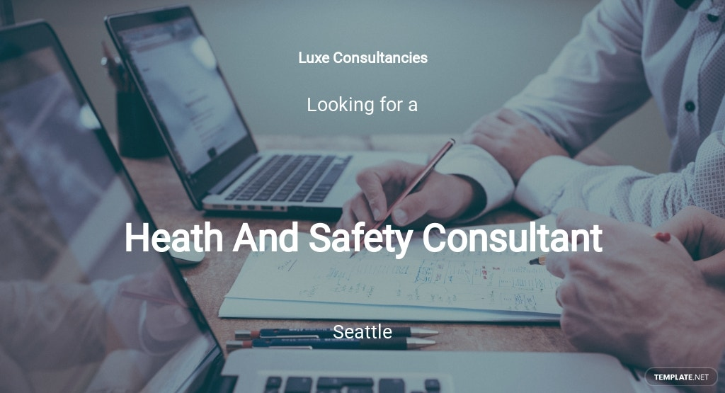Health And Safety Consultant Job Description Template