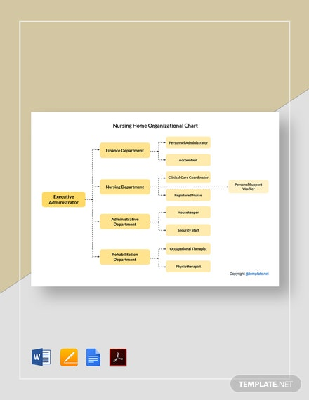 Free Sample Nursing Home Organizational Chart Template