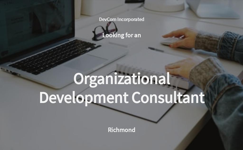 Organizational Development Consultant Job Ad/Description Template